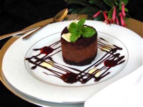 triple individual chocolate mousse cake finediningscom