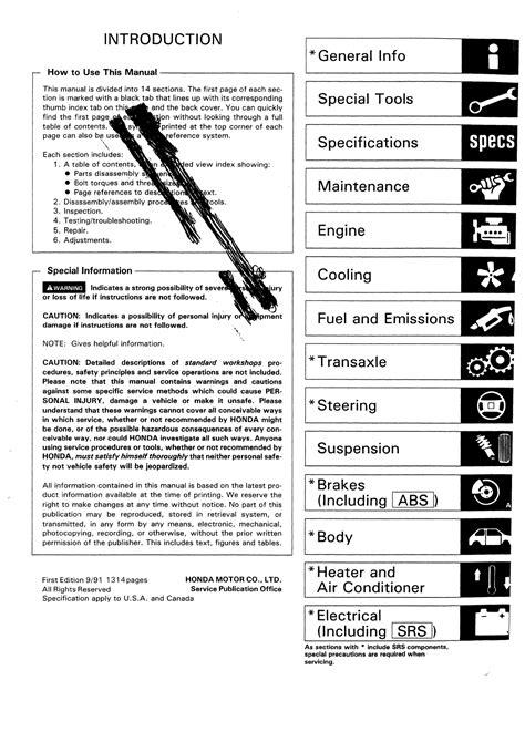 free car repair manuals 1998 honda civic security system 1995 honda civic workshop manual pdf
