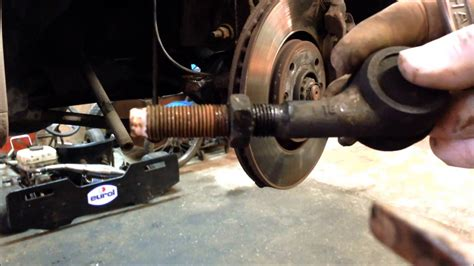 peugeot  tie rod  replacement youtube