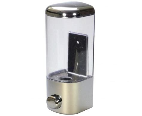 Clear & Chrome Wall-Mount Liquid Soap Dispenser (20oz