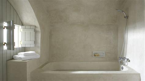 salle de bain tadelakt beige chaios