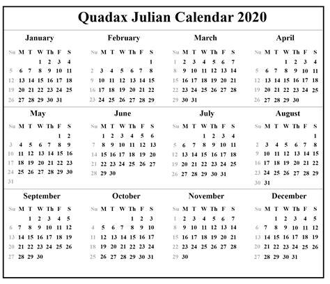 printable julian calendar template printable calendar diy