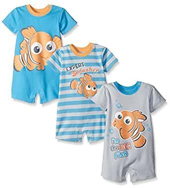 Amazon.com: Disney Baby Boys' Finding Nemo 3 Pack Rompers ...