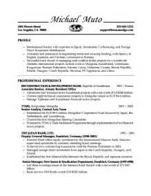 Banking Resumes For Experienced by Banking Resume With No Experience Http Www Resumecareer Info Banking Resume With No