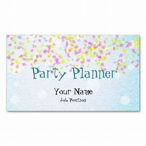 Party planner business card my zazzle products for Party planner business cards