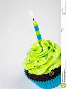 Birthday Cupcake stock photo. Image of bright, food ...