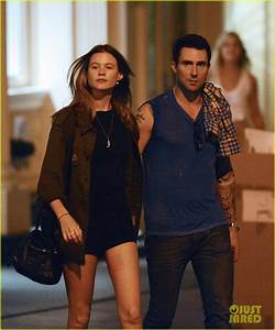 Adam Levine & Behati Prinsloo: Holding Hands!: Photo ...