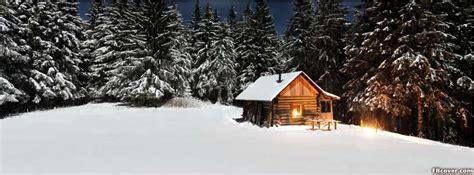 winter cabin night facebook cover photo fbcovercom