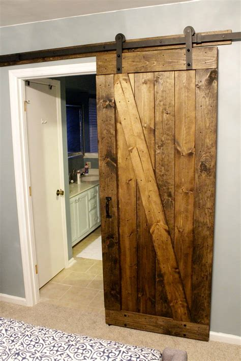 Barn Door For House by Easiest Cheapest Way To Build A Rustic Barn Door