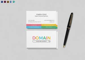 business card designs templates  word psd publisher