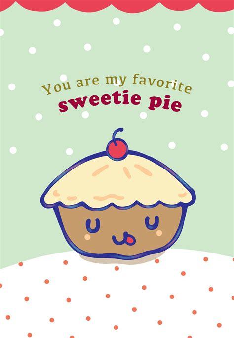 printable  favorite sweetie pie greeting card