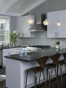 cuisine taupe et gris modern aatl With meuble cuisine couleur taupe 4 la cuisine en u avec bar voyez les derniares tendances