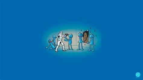 Rick And Morty Mr Meeseeks Wallpaper Stormtrooper Chewbacca Mr Meeseeks Star Wars Humor Blue Rick And Morty Wallpaper