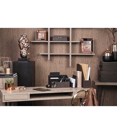 bureau bois noir etagères murales design wadiga com wadiga com