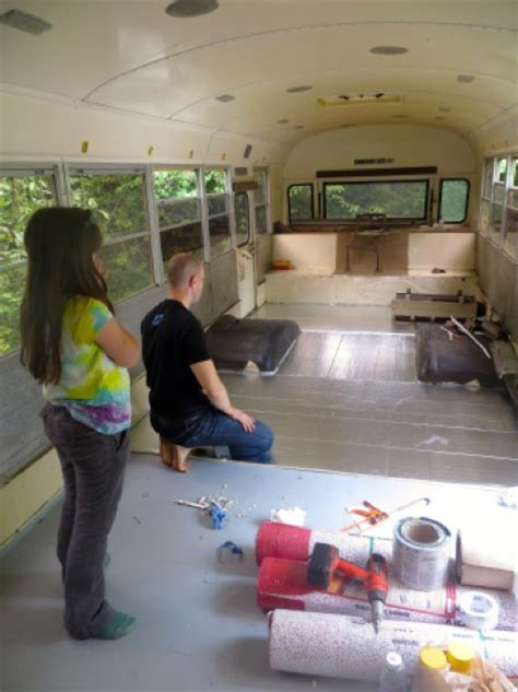Family of 6 Living Simply Tiny in Converted School Bus