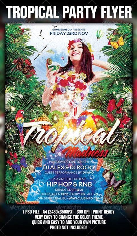 tropical poster template top 10 best tropical psd flyer templates