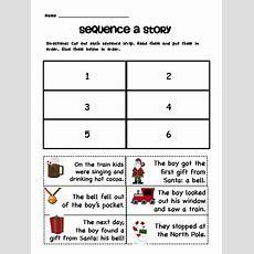 Sarah's First Grade Snippets Polar Express Literacy Pack Freebie