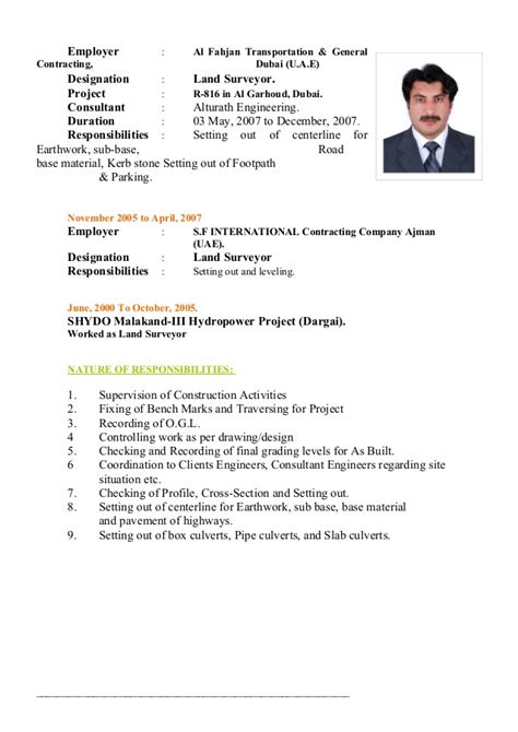 land surveyor updated cv