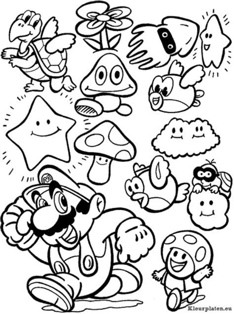 Kleurplaten Mario Bros by Mario Bros Kleurplaat Cartoone Kleurplaten