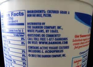 Plain Greek Yogurt Ingredients