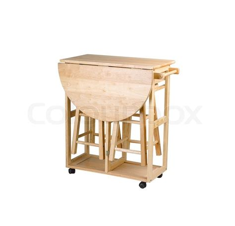 kitchen island with chairs folding and movable wooden table with stools for small