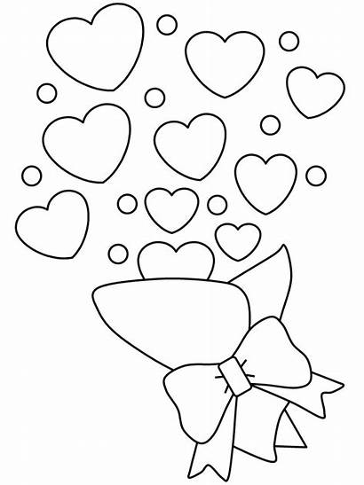 Coloring Pages Printable Valentines Valentine Flower Bouquet