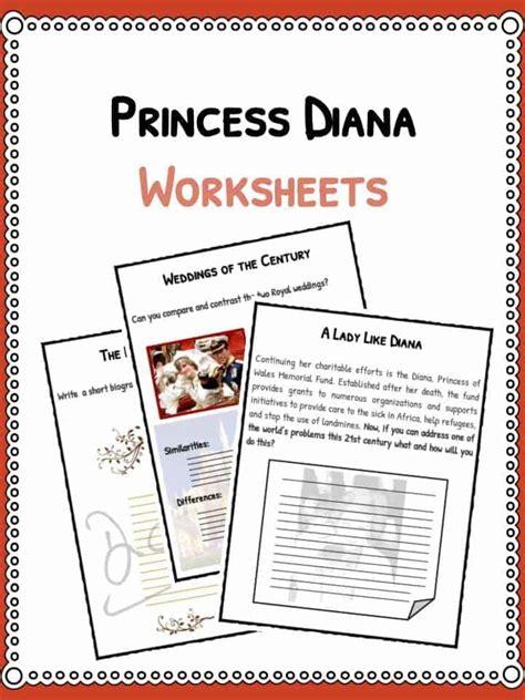 Princess Diana Facts, Information & Worksheets For Kids