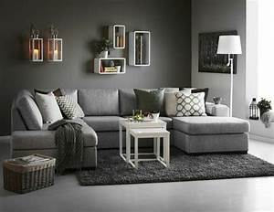deco salon gris 88 super idees pleines de charme With deco salon marron et gris