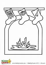 Fireplace Coloring Christmas Colouring Pages Stockings Kiddycharts Sheets Sheet Printables sketch template