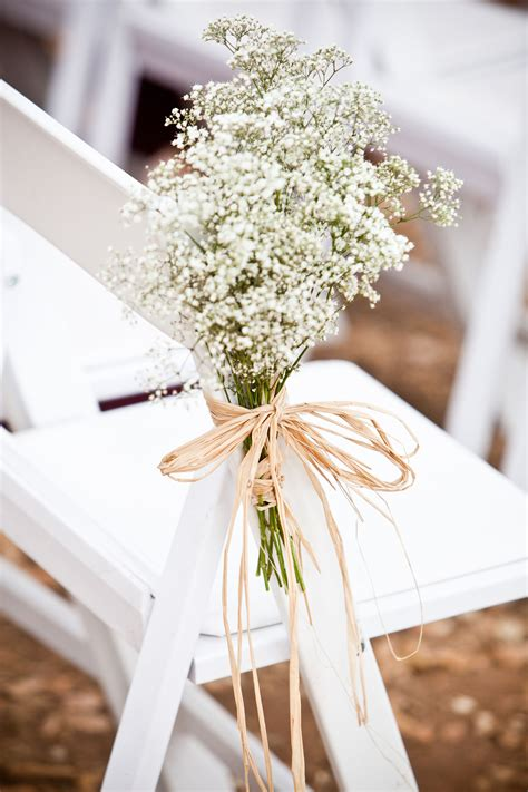 subtle  chicbabys breath flowers  ceremony chair