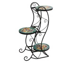 decorative 3 tier mosaic glass plant stand page 1 qvc com