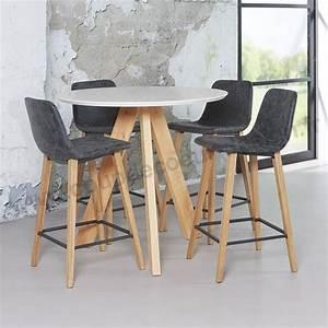 Table De Cuisine Haute : table haute de cuisine sandinave blanche ronde sur cdc design ~ Dailycaller-alerts.com Idées de Décoration