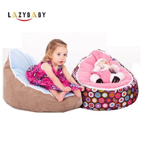lazybaby medium baby bean bag chair bed for sleeping