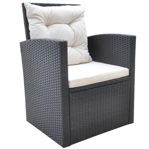 Black Wicker Loveseat by Vidaxl Garden Furniture 18 Poly Rattan Wicker Black