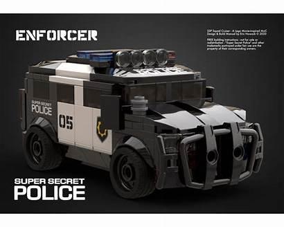 Moc Police Suv Secret Super Enforcer Mocs