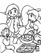 Coloring Pages Sleepover Pajama Printable Printables Christmas Fun Getcolorings sketch template