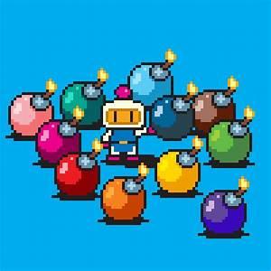 Pixel Art Bombe : bomberman rainbow bomb set pixel art by pxlflx on deviantart ~ Melissatoandfro.com Idées de Décoration