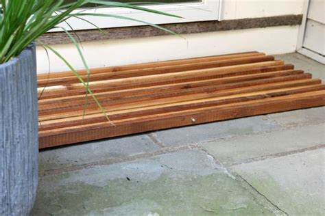 wooden doormats how to make a wood slat doormat how tos diy