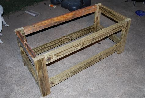 ana white beefed  outdoor storage bench diy projects