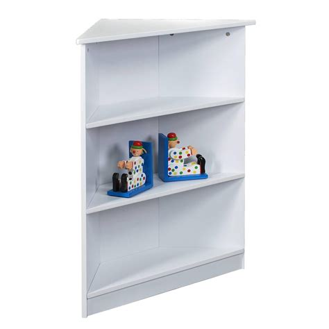 Childrens White Bookcase by Gift Corner Three Tier Bookcase With Top Shelf