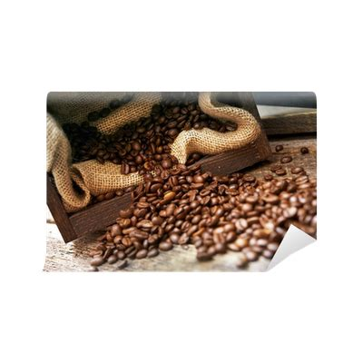 Coffee cup tea graphy coffee cup, spilled coffee, over, coffee shop, coffee png. Spilled Coffee Beans Wall Mural • Pixers® - We live to change