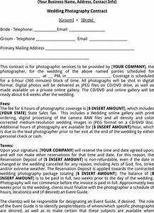 wedding photography contract template templatesforms With wedding photography contract meal clause