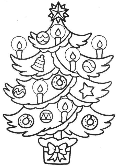 dibujos para colorear de abetos arbol de navidad
