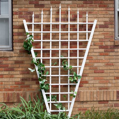 7 Foot Trellis by 7 75 Ft Fan Shaped Garden Trellis With Pointed Finals In