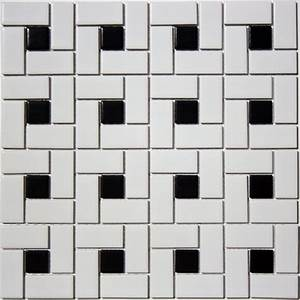 Satin Glazed Porcelain Spiral (Pinwheel) Mosaic Tile in ...