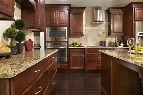 Kitchen Floor Ideas With Cherry Cabinets by Kitchen Design Ideas Remodel Projects Photos