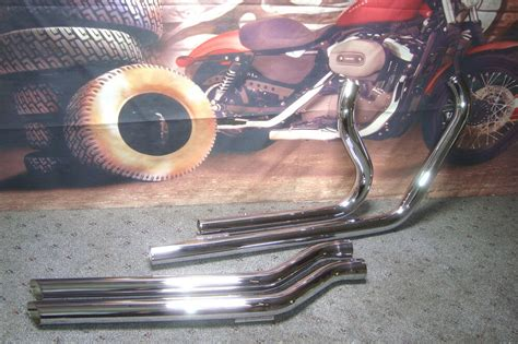 Pipes Exhaust Paughco Chrome W/ O2 Ports Fits Harley