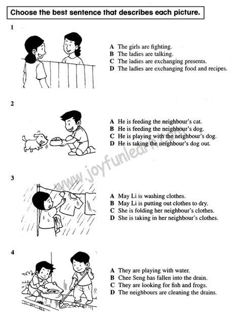 Standard 4 English Comprehensive Exercise