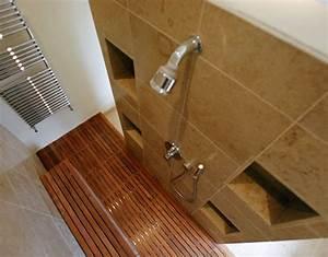 Teak floor tiles bathroom conca verdiana bone thru for Teak tiles bathroom
