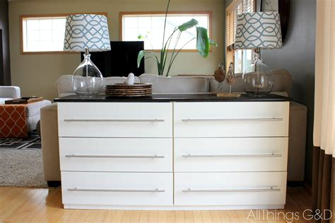 ikea tarva transformed   kitchen sideboard